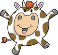 Happy Cow Vector Illustration Royalty Free Stock Photos