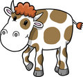 Happy Cow Vector Illustration Stock Images