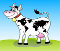 Happy cow (world map) Royalty Free Stock Photography