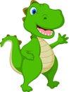 Happy Crocodile Cartoon Waving