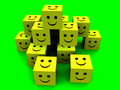 Happy Cubes 4 Stock Photo