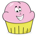 Happy cupcake Stock Photography