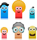 Happy cute monsters family vector illustration of separate layers for easy editing Stock Image
