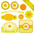 Happy Daisy Labels Stock Images