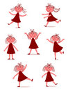 Happy, dancing girl Royalty Free Stock Image