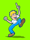 Happy dancing man cartoon and having a good time Royalty Free Stock Photo