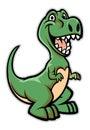 Happy dinosaur cartoon Royalty Free Stock Photo