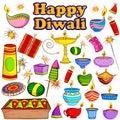 Happy Diwali Celebration Object