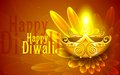 Happy diwali illustration of illustration of decorated diya for Royalty Free Stock Photography