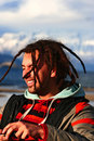 Happy dreadlock man young beautiful with dreadlocks Royalty Free Stock Image