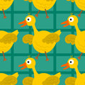 Happy duck seamless background design Royalty Free Stock Photo