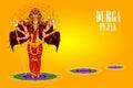 Happy Durga Puja India festival holiday background Royalty Free Stock Photo