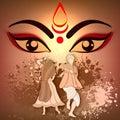 Happy Dussehra celebration with Goddess Durga.