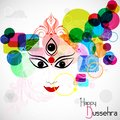 Happy dussehra easy to edit vector illustration goddess durga for Royalty Free Stock Photo
