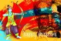 Happy dussehra poster design