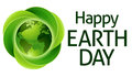 Happy Earth Day Green Leaves G...