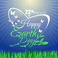 Happy Earth Day. Greeting lettering card