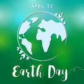 Happy Earth Day lettering globe banner