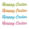 Happy Easter, 3D handwriting type on white background Stock Photo