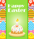 Happy easter background with cake card Royalty Free Stock Images