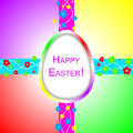 Happy easter background design elements Royalty Free Stock Photo
