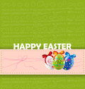 Happy easter background each element in a separate layers very easy to edit eps file Stock Photo