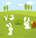 Happy easter background each element in a separate layers very easy to edit eps file Royalty Free Stock Images