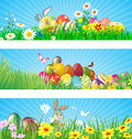 Happy easter background each element in a separate layers very easy to edit eps file Stock Photos