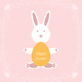 Happy easter background of greeting card Royalty Free Stock Photo
