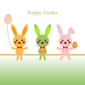 Happy easter background of greeting card Royalty Free Stock Photos