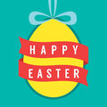 Happy easter with banner vector illustration Stock Image