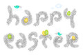 Happy Easter bird nest Royalty Free Stock Photos