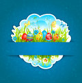 Happy Easter blue background Royalty Free Stock Photography