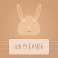 Happy easter bunny cartoon character symbol background Royalty Free Stock Photo