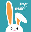 Happy easter and bunny vector illustration of with the words of greeting Royalty Free Stock Image
