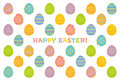 Happy easter card background of eggs Stock Photos