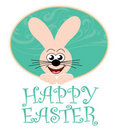 Happy easter card with bunny Royalty Free Stock Photo