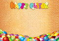 Happy Easter Card. Decorative Vector Background Stock Images