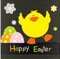 Happy Easter card design Stock Image