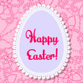 Happy Easter card with egg banner lace
