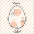 Happy Easter card with egg cutout