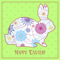 Happy Easter card with gradient rabbit