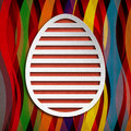 Happy Easter Card - simple shape of egg Royalty Free Stock Photos