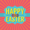 Happy easter card vector illustration Stock Image