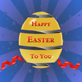 Happy easter cards with easter eggs golden egg with ribbon stars background vector eps i have created card in form Royalty Free Stock Photography