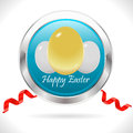 Happy easter cards with easter eggs golden egg with ribbon vector eps i have created card in form Stock Photo