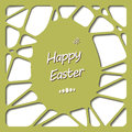 Happy easter cards illustration with easter egg vector Royalty Free Stock Photography