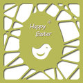 Happy easter cards illustration with easter egg vector Stock Images