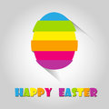 Happy easter cards illustration retro vintage with egg and fonts vector Royalty Free Stock Photography