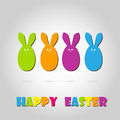 Happy easter cards illustration retro vintage with egg and fonts vector Stock Photography